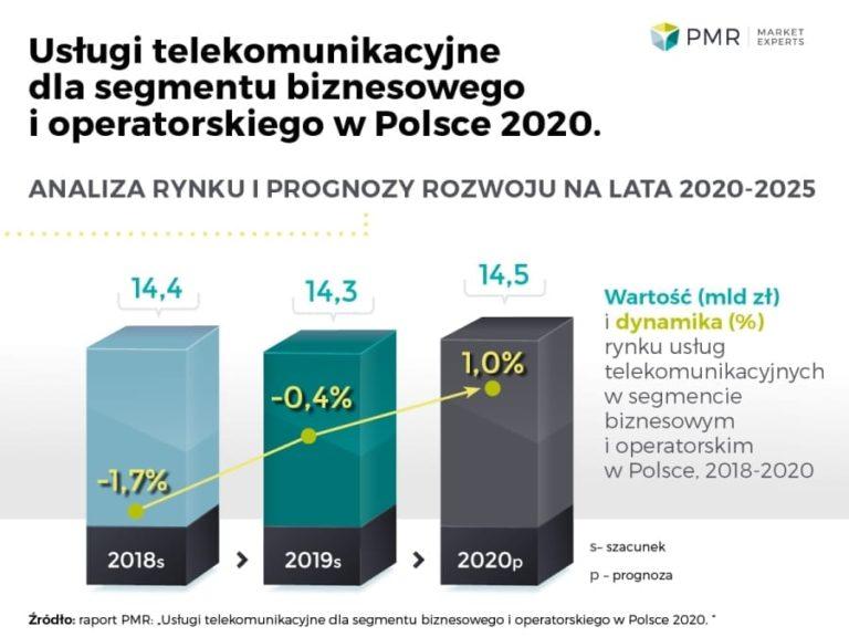 Usługi telekomunikacyjne dla segmentu biznesowego i operatorskiego w Polsce 2020