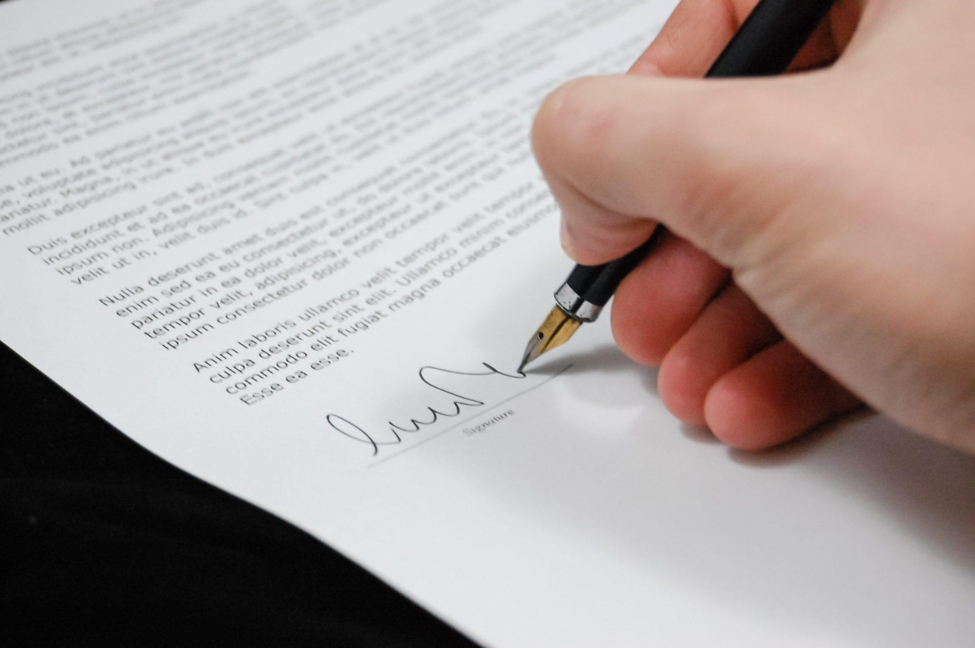 podpis - dokument